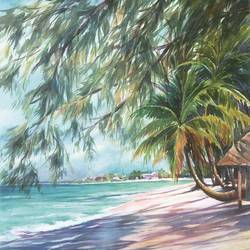The Beach size - 11x14In art print by AdroitArt