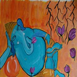 THEGANESHA AT REST size - 16x11In - 16x11