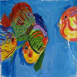 THE AQUARIUM FISHES size - 13x10In - 13x10
