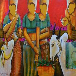 Conversation 22 size - 36x60In - 36x60