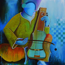 musician  size - 30x30In - 30x30