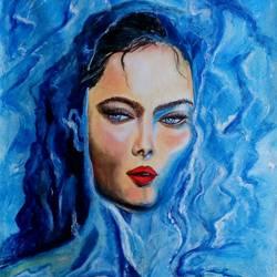Women in Water size - 22x32In - 22x32