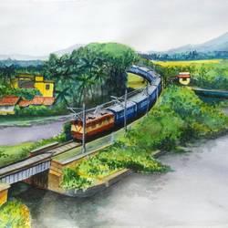 Rail Bridge size - 15x11In - 15x11