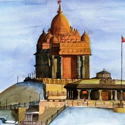 Vivekananda Rock Memorial size - 15x11In - 15x11