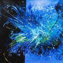 blue heven size - 36x30In - 36x30