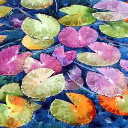 WATER LILY size - 21x15In - 21x15