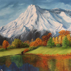 Peace in Mountain size - 31.5x18In - 31.5x18