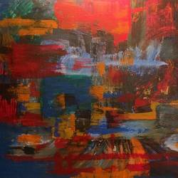 Chaotic Solitude  size - 36x30In - 36x30