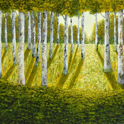 Autumn Forest at Sun Light size - 30x20In - 30x20