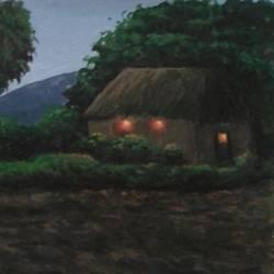 silent village size - 9x12In - 9x12