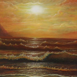 Sea at Sunset size - 16x20In - 16x20
