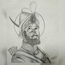 Guru Gobind Singh ji size - 11x12In - 11x12