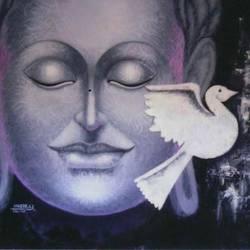 Budhha-the shantidoot size - 36x24In - 36x24