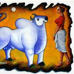 Ankush-th power in hand size - 48x36In - 48x36