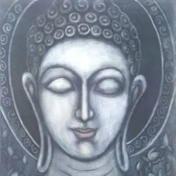BUDDHA CALLING PEACE size - 18x24In - 18x24