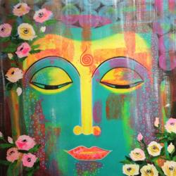 Buddha - Pop Style size - 26.7x30In - 26.7x30