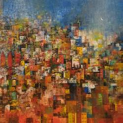 City of love  size - 58x36In - 58x36