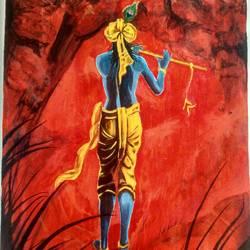 Lord Krishna size - 20x24In - 20x24