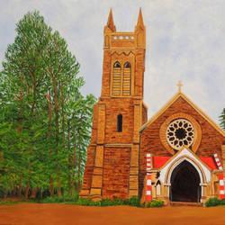 Church in Nainital size - 30x40In - 30x40