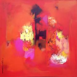 Red shade  size - 36x36In - 36x36
