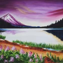 Landscape photo realism size - 18x24In - 18x24