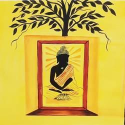 Buddha yogasan size - 18x24In - 18x24