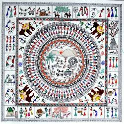 Warli Paintings 3 size - 12x12In - 12x12