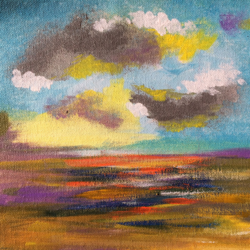 Abstract !! Mini Abstract !! Clouds !! size - 9x9.7In - 9x9.7