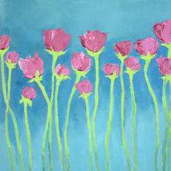Res to hang, Impasto Rose . size - 12x12In - 12x12