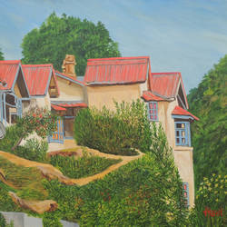 A Sunny Day in Nainital size - 45x30In - 45x30