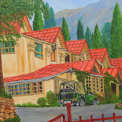 Holiday in Nainital size - 45x30In - 45x30