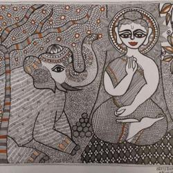 Madhubani size - 18x24In - 18x24