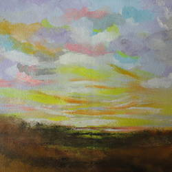 Distant Skies !! Abstract Landscape !! size - 11x9.2In - 11x9.2