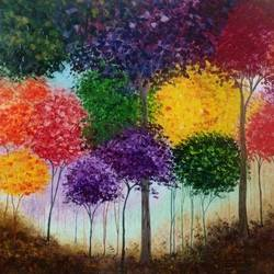 Jungle of colours size - 33x44In - 33x44