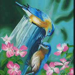 Birds in nature size - 24 x36In - 24 x36