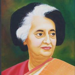Indira gandhi size - 24 x36In - 24 x36