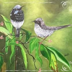 Birds size - 14x14In - 14x14