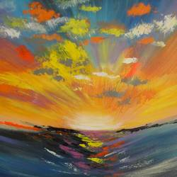 Reflection of Skies !! Abstract Art !! size - 31.2x22In - 31.2x22