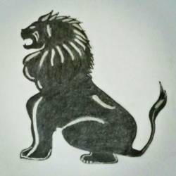 Lion the King of Jungle size - 8.2x11.4In - 8.2x11.4