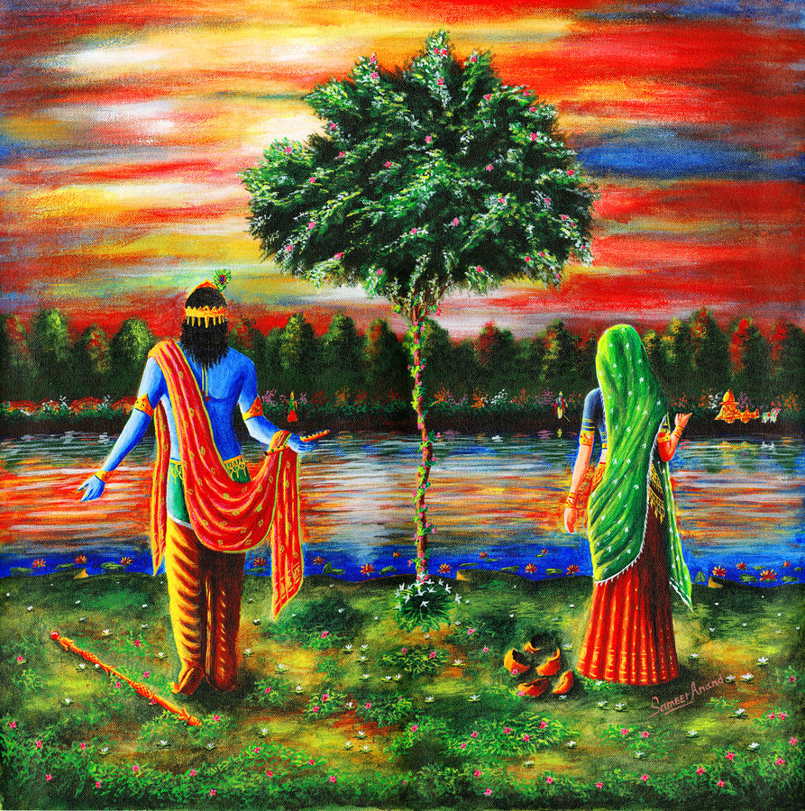 lord of mathura in gokul, 24 x 24 inch, samit kumar,paintings,radha krishna paintings,paintings for living room,canvas,acrylic color,24x24inch,radhakrishna,love,lord,lordkrishna,lordradha,religious,flute,,GAL0443415192,krishna,Lord krishna,krushna,radha krushna,flute,peacock feather,melody,peace,religious,god,love,romance,lord of mathura in gokul size - 24x24in,ADR9443415192