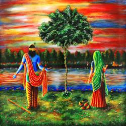 lord of mathura in gokul size - 24x24In - 24x24