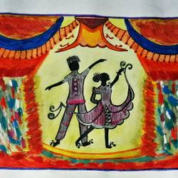 Dancing Couples size - 10.8x13.6In - 10.8x13.6