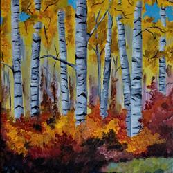 Original handmade acrylic nature painting size - 12x18In - 12x18