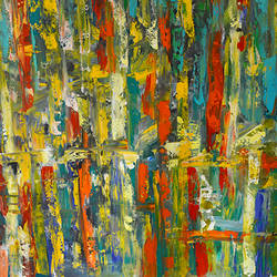 Abstract Cityscape size - 54x42In - 54x42