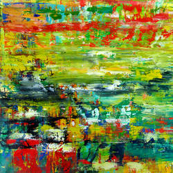 Abstract Landscape size - 54x46In - 54x46
