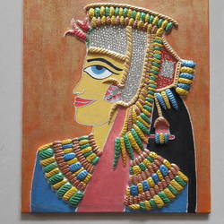 3D Mural on canvas board ( Egyptian Theme) size - 10x12In - 10x12