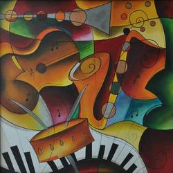 MUSICAL COLOURS size - 30x30In - 30x30