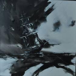 SAILING SHIP size - 48x48In - 48x48
