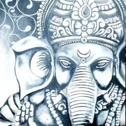 Ganesha monochrome size - 16x20In - 16x20