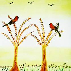Garden Birds size - 10.8x13.6In - 10.8x13.6